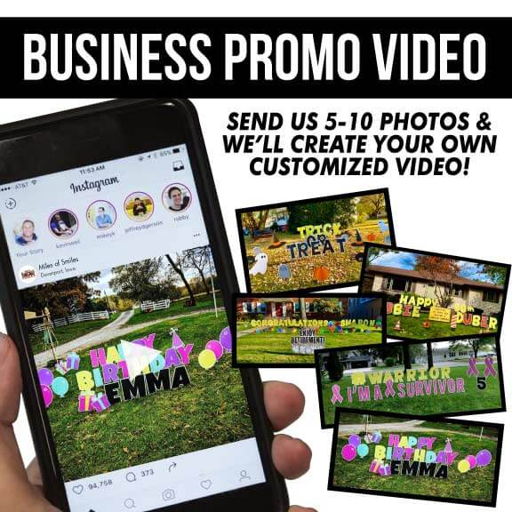 yard sign business promo video