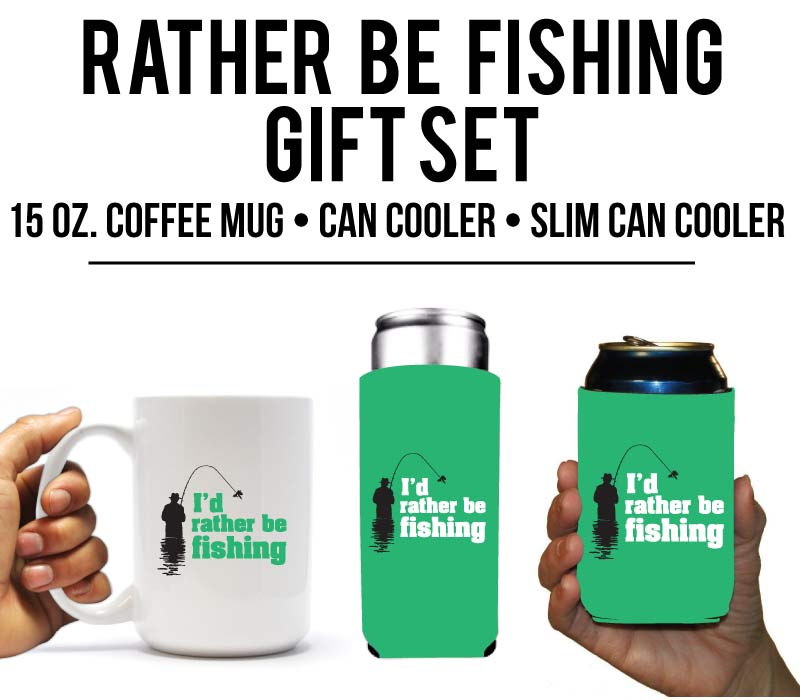 I'd Rather Be Fishing Holiday & Birthday Gift for fishermen