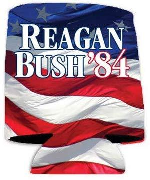 Reagan Bush '84 Gift Pack - Yard Sign, Decal & Can Cooler - FREE SHIPPING
