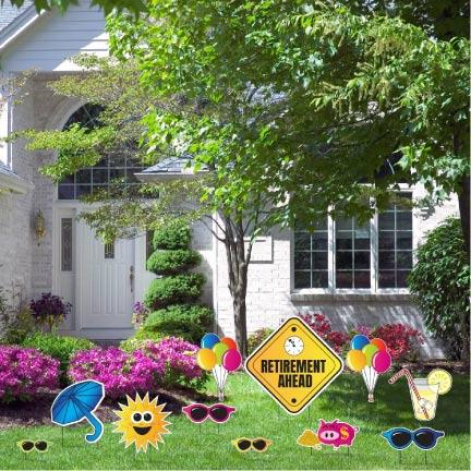 Sunny Days Retirement Ahead Yard Decoration - FREE SHIPPING