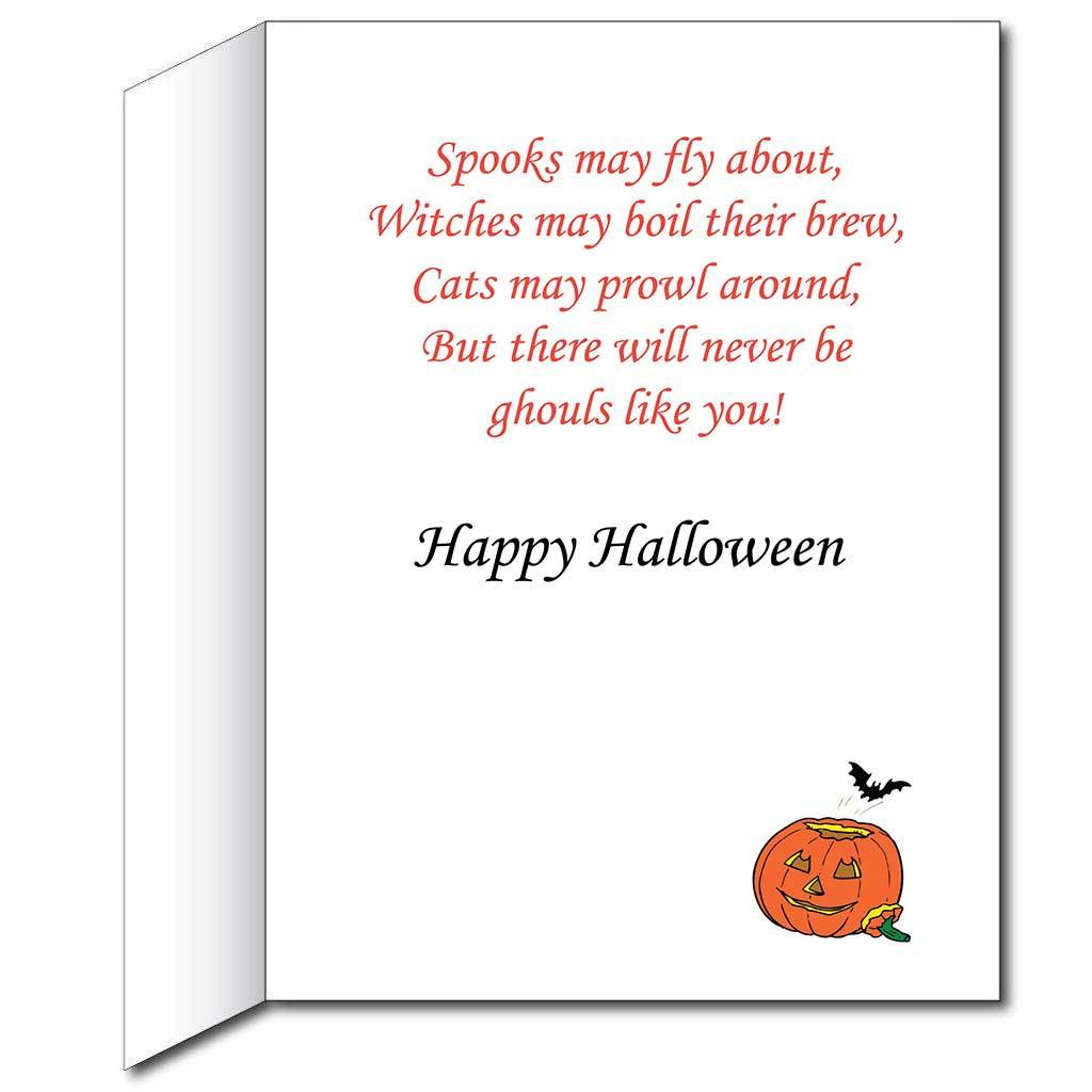 2'x3' Giant Stock Halloween Card W/Envelope