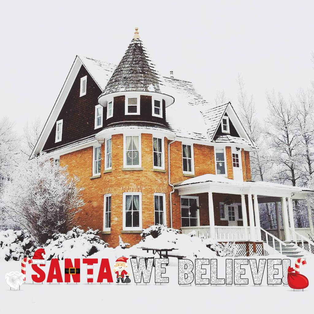 Santa We Believe! Christmas Yard Decorations FREE SHIPPING