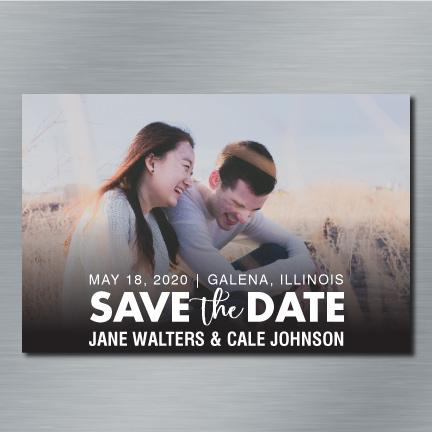 "Save the Date Custom 4""x6"" Refrigerator Magnet - FREE SHIPPING"