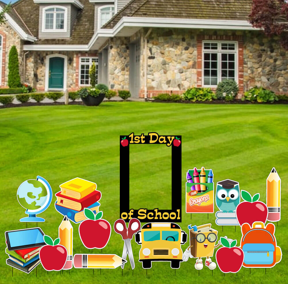 School Themed Yard Greeting Accessory Kit - 17 Sign Set - FREE SHIPPING (AC8)