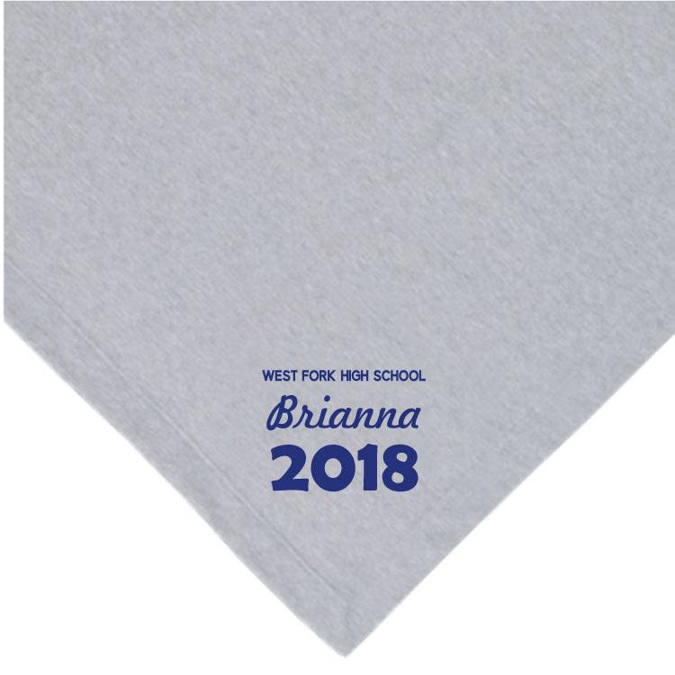 Custom Senior Class Fleece Blanket