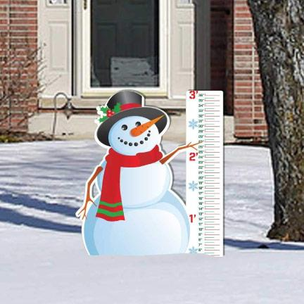 Snowman Snow Gauge Yard Sign Decoration - FREE SHIPPING
