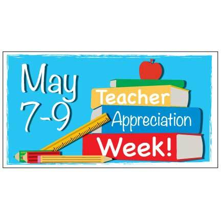 Custom Teacher Appreciation Week Waterproof Vinyl Banner