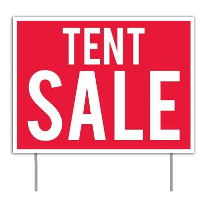 Tent Sale Banner & Yard Signs Set
