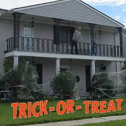 Trick-Or-Treat Halloween Yard Decorations Giant Letters - FREE SHIPPING