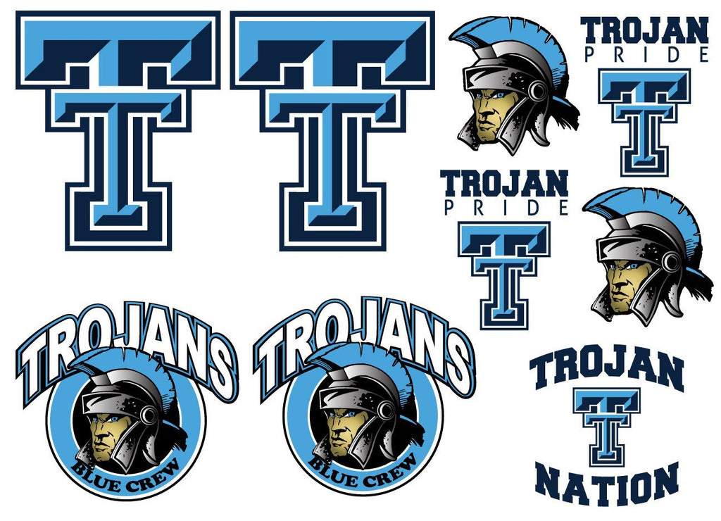 Triopia Trojans Decal Set