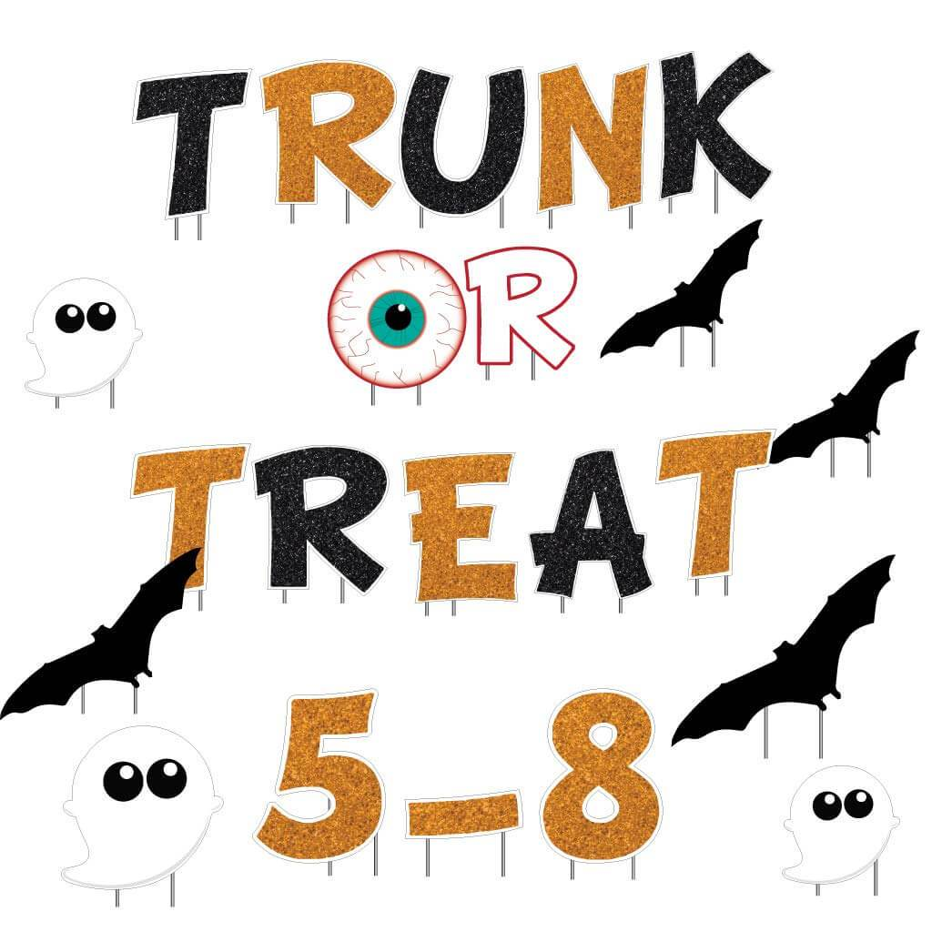 Trunk or Treat Halloween Yard Decorations - 22 piece set