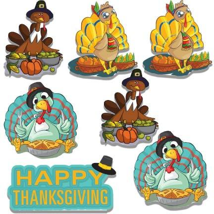 Happy Thanksgiving Turkey Pilgrims Yard Decoration - FREE SHIPPING