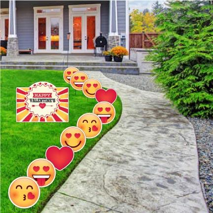 Valentines Day Lawn Decor