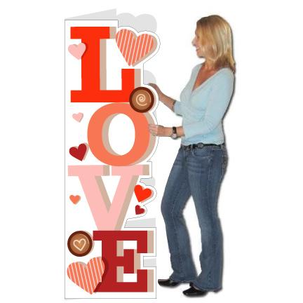Giant Life-Sized Valentine's Day Card - FREE SHIPPING