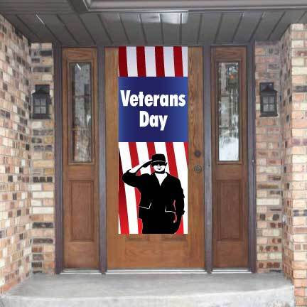 Veterans Day Door Banner - Waterproof Vinyl Banner