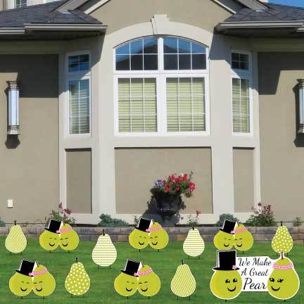 We Make A Great Pear Anniversary Lawn Decorations