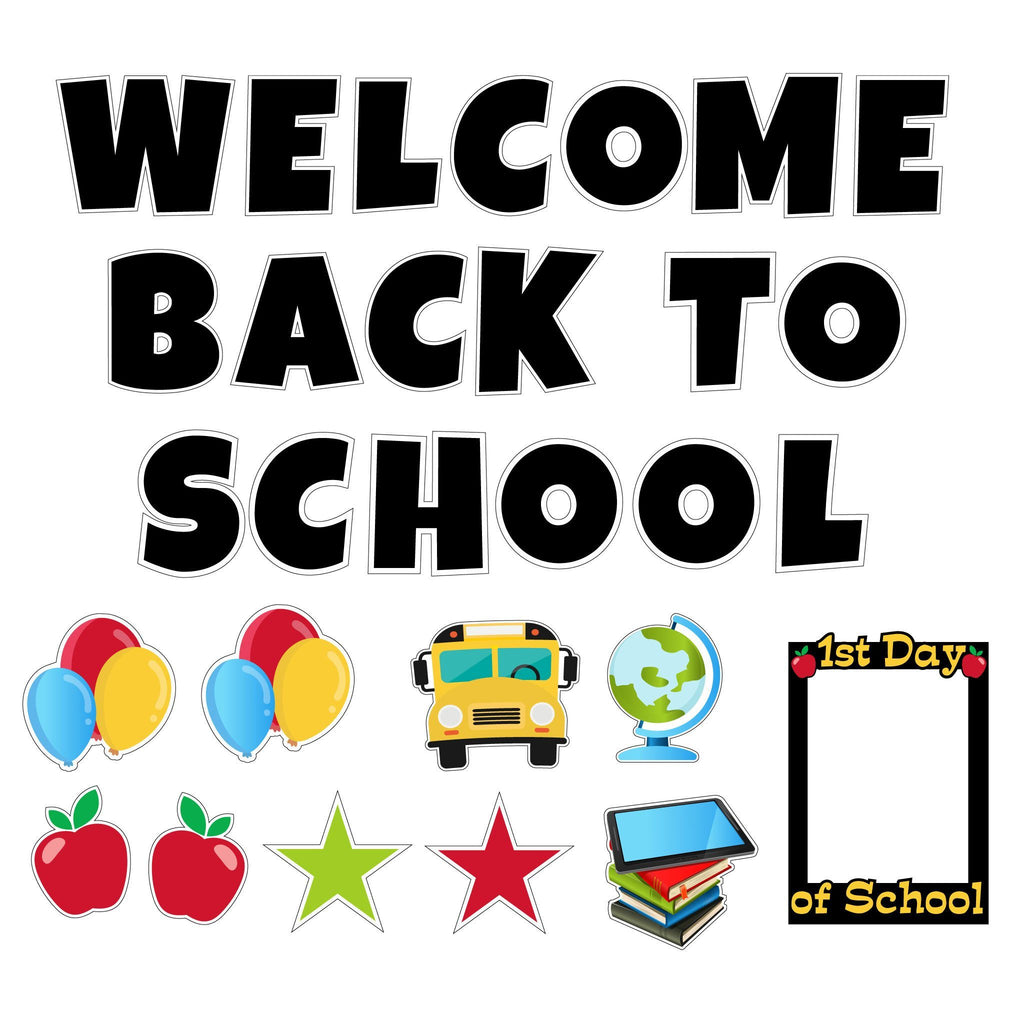 Welcome Back to School Yard Decoration with Photo Selfie Frame FREE SHIPPING