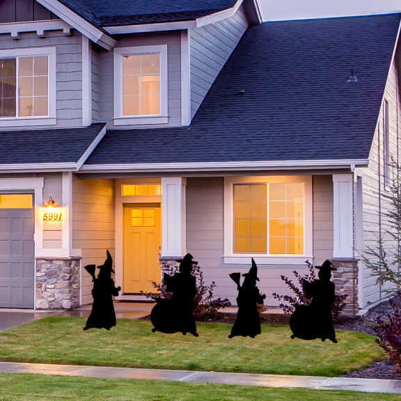 Halloween Witch Stand Up Yard Decoration Silhouettes - FREE SHIPPING (13482)