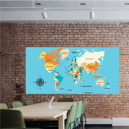 World Map Vinyl Banner FREE SHIPPING
