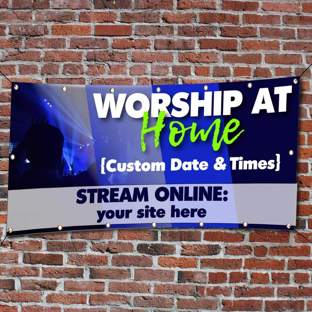Worship from Home Church Banner