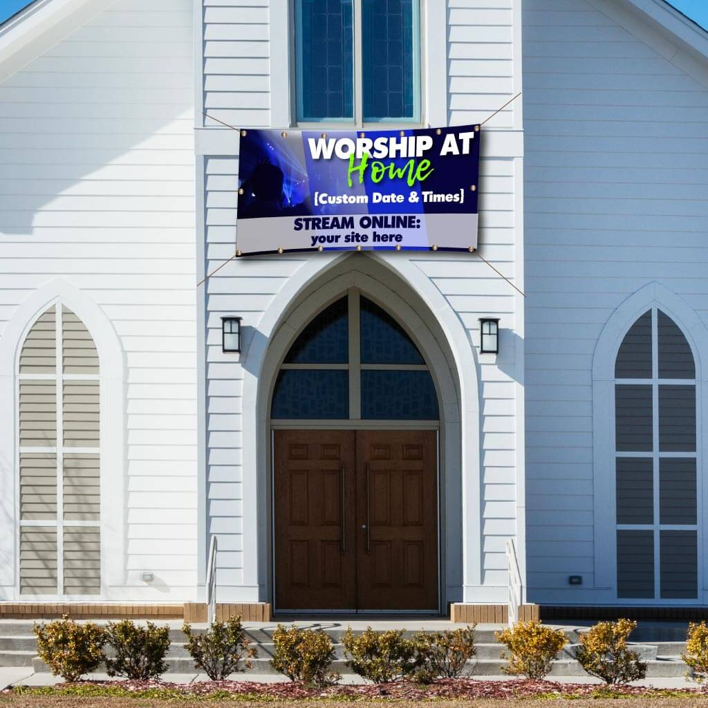 Worship From Home Custom Banner