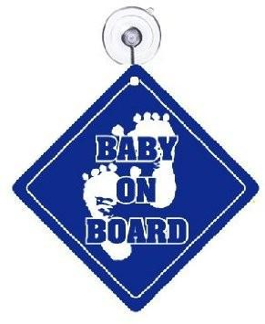A baby on board sign