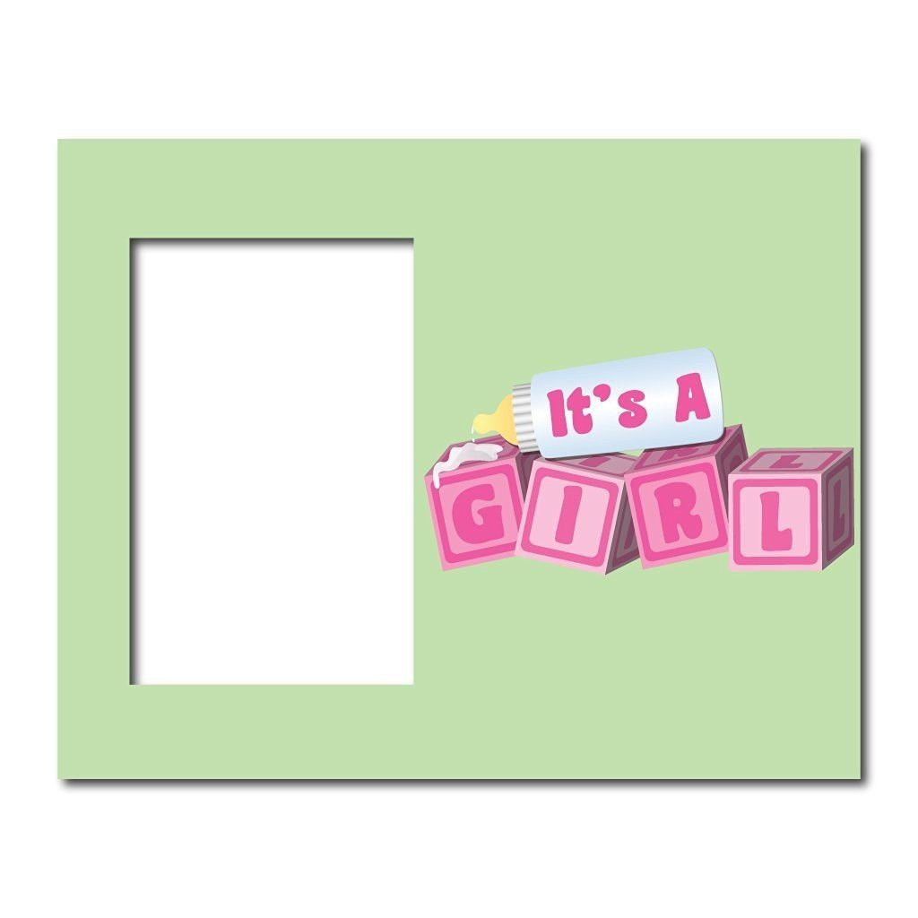 New Baby Girl Picture Frame #3 - It's a Girl! Baby Blocks - Holds
