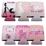 New Baby It's A Girl Can Cooler Set - 6 Designs - Set of 6 - FREE