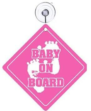 It's a Girl Announcement Kit - Stork Yard Sign, Baby on Board and Baby Sleeping Signs - FREE SHIPPING