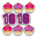 Birthday Yard Cards - Sweet 16 Cupcakes Yard Decoration - Free