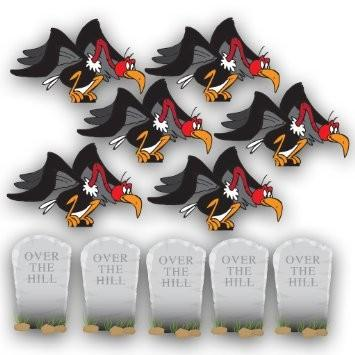 Birthday Yard Cards - Over The Hill with Buzzards and Tombstones - FREE SHIPPING
