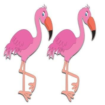 Yard Cards - Flamingo Yard Decoration - Set of 2 - Free Shipping