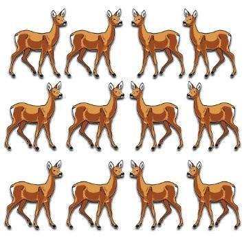 Deer Yard Decoration - Set of 12 with 12 short stakes