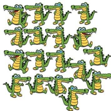 Gators Yard Decoration with stakes- Set of 18 with 18 short stakes