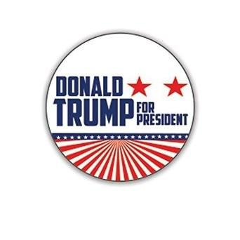 Donald Trump for President Button 2016