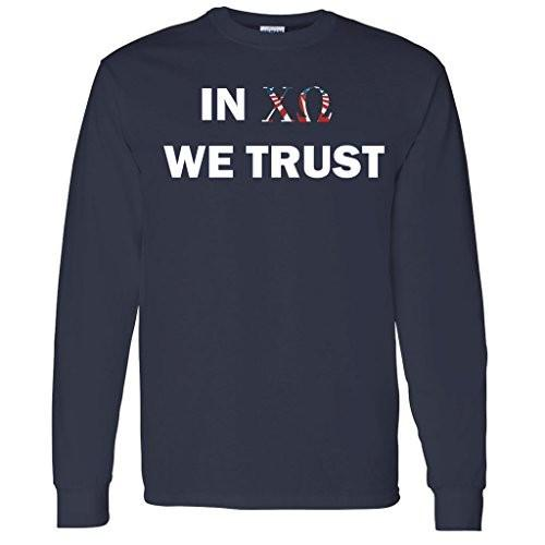 In Chi Omega We Trust Long Sleeve Shirt - FREE SHIPPING