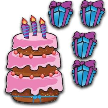 Birthday Yard Cards - Large Birthday Cake and Presents Yard Decoration