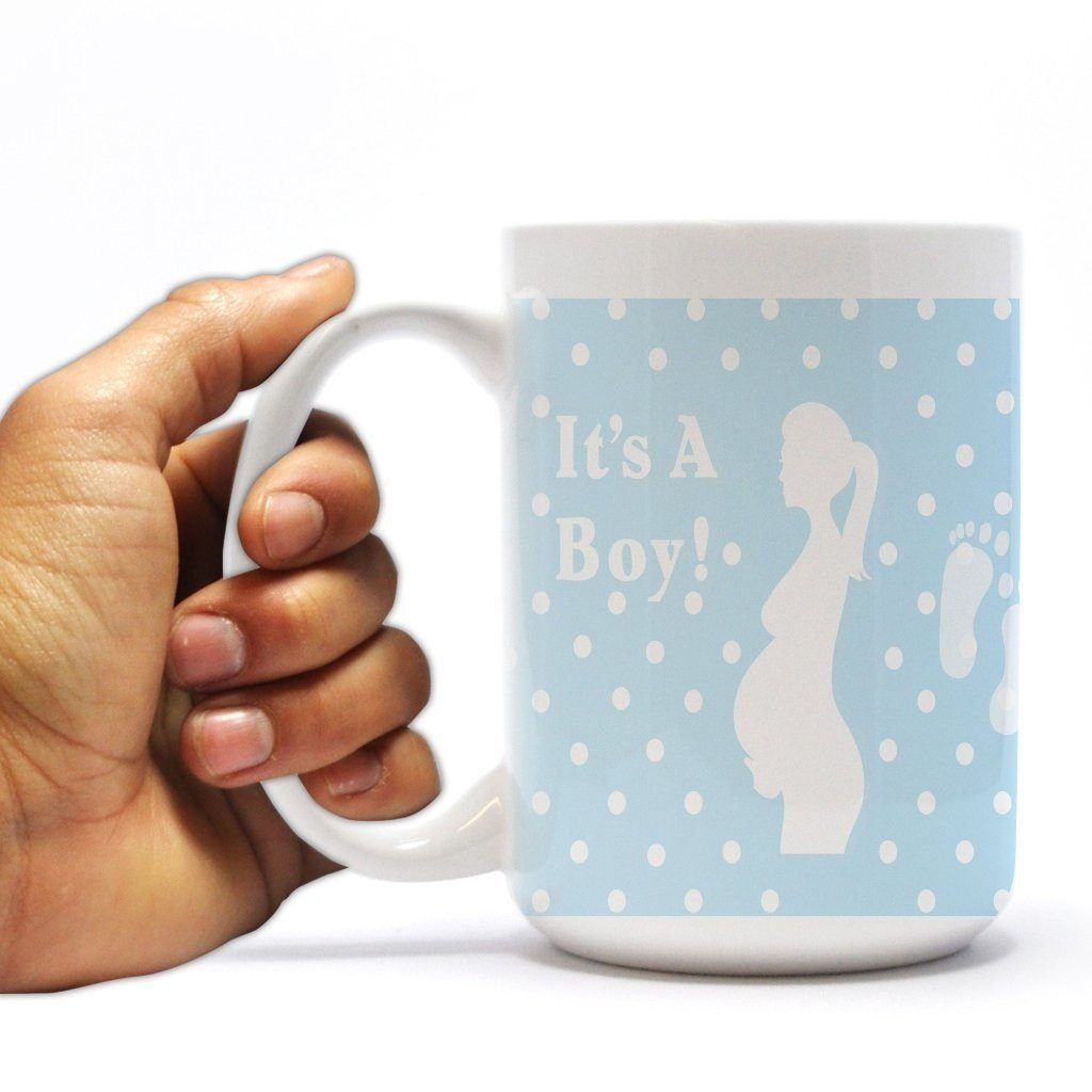 New Baby Coffee Mug - It's A Boy - Pregnant Mother - 15 oz