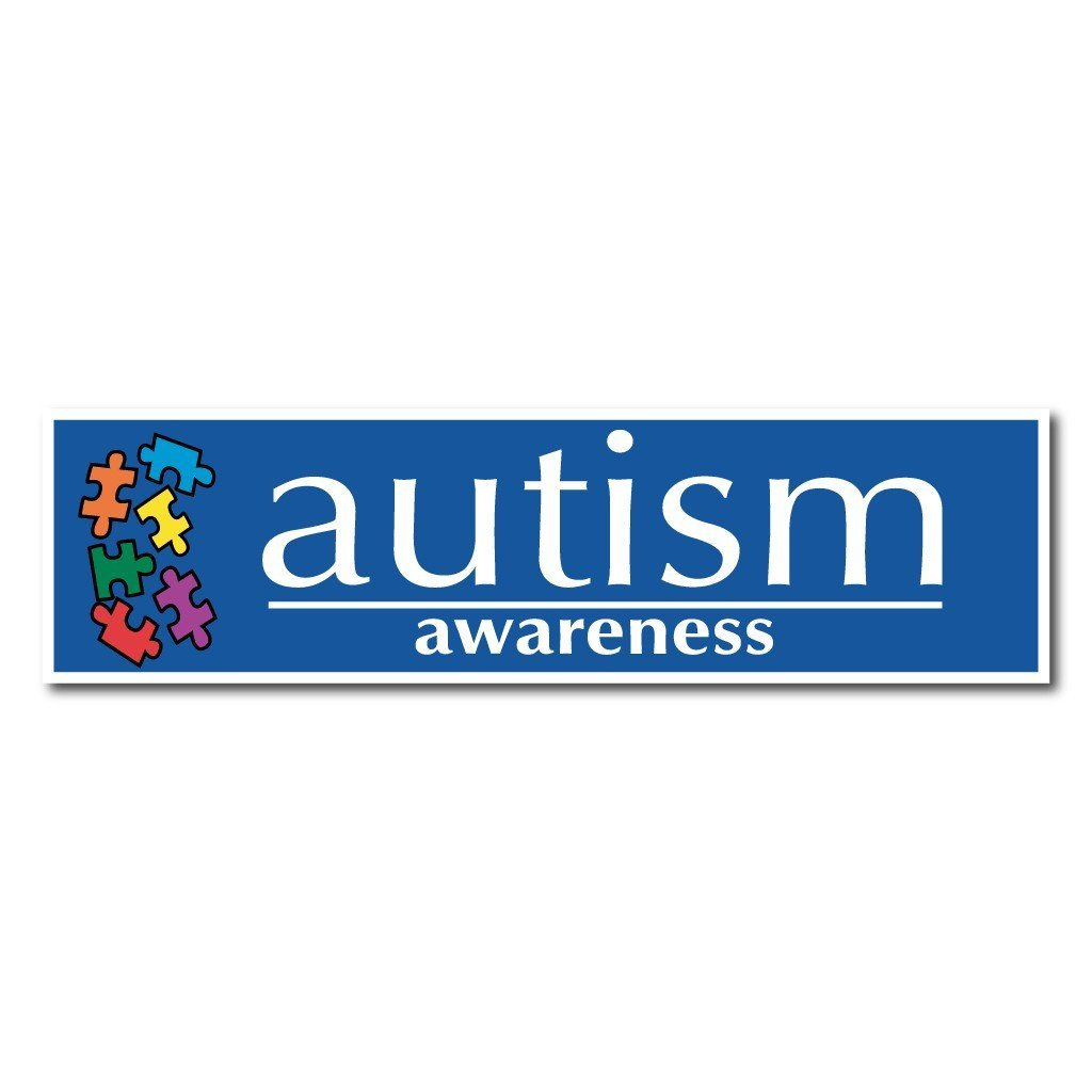 "Puzzle Pieces Autism Awareness Bumper Magnet Pair (#5) - 3"" x 11.5"" - FREE SHIPPING"