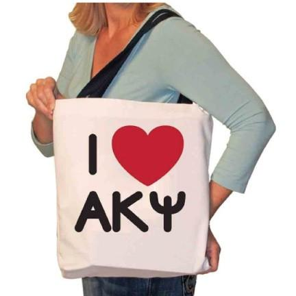 I Love Alpha Kappa Psi Canvas Tote Bag
