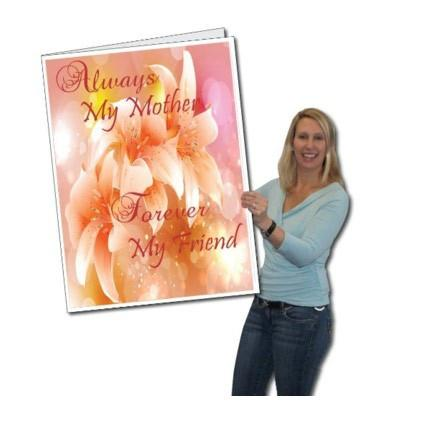 "Giant Mother's Day Card - Stock Design - ""Always My Mother, Forever My Friend"" - Free Shipping"