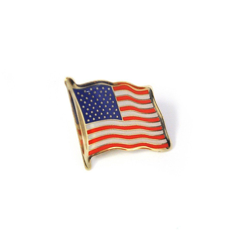 Waving Flag Pin