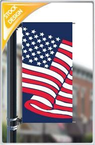 "18""x36"" American Flag Pole Banner"