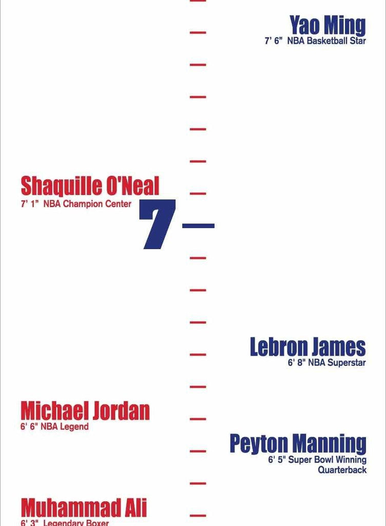 Plastic Height Growth Chart Sports Themed Corrugated Plastic Chart