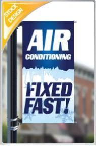 "18""x36"" AC Fixed Fast Pole Banner"