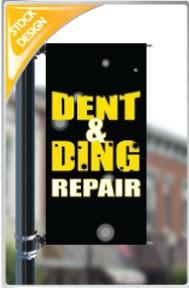 "18""x36"" Dent and Ding Repair Pole Banner FREE SHIPPING"