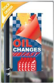 "18""x36"" Oil Changes Fast Pole Banner FREE SHIPPING"