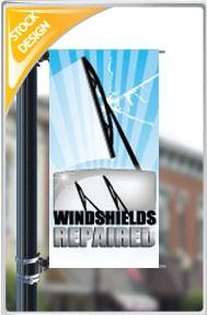 "18""x36"" Windshields Repaired Pole Banner FREE SHIPPING"