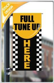 "18""x36"" Full Tune up Here Pole Banner FREE SHIPPING"