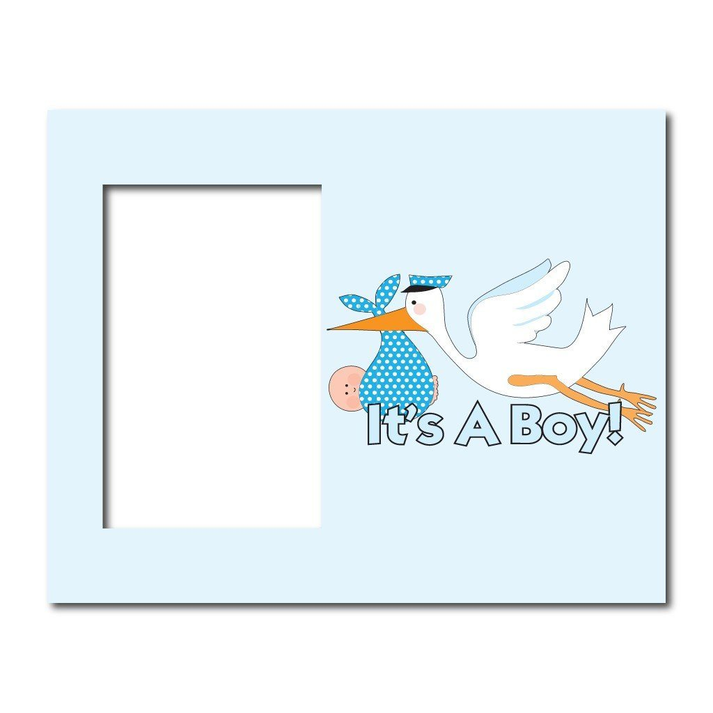 Its A Boy Stork Decorative Picture Frame Holds 4x6 Photo